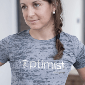 Optimist Silver Foil Burnout Tee